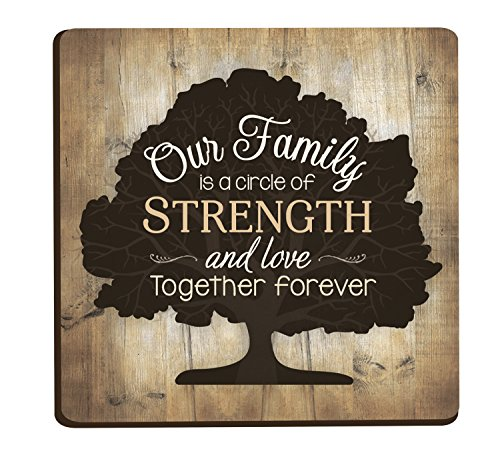 Our Family Tree Distressed Wood Look 3 x 3 Inch Wood Lithograph Magnet