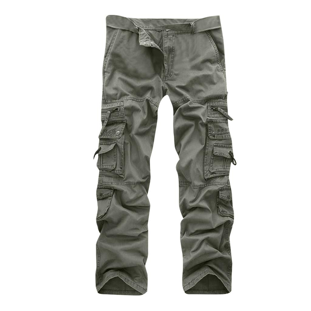 Allywit Casual Military Pants, Cotton Camo Tactical Wild Combat Cargo Sport Pleated Multi Zipper Pockets Trousers Plus Size by Allywit-Pants (Image #3)