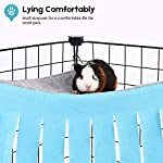 DIDIPET Guinea Pig Hideaway Corner Fleece Forest Hideout for Ferrets Chinchillas Hedgehogs Dwarf Rabbits and Other Small Pets - Accessories and Toys 10