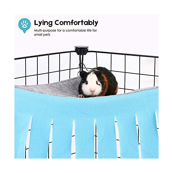 DIDIPET Guinea Pig Hideaway Corner Fleece Forest Hideout for Ferrets Chinchillas Hedgehogs Dwarf Rabbits and Other Small Pets - Accessories and Toys 4