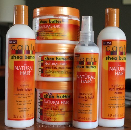 Cantu Shea Butter For Natural Hair Jumbo Combo (Hair Lotion, Curl Cream, Shine Mist, Coconut Creme, Twist Gel, Deep Treatment)