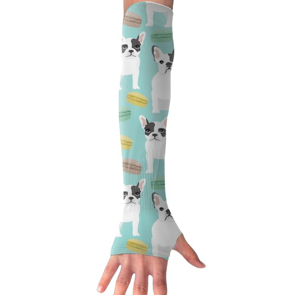 French Bulldog UV Sun Protection Sleeves,Cooling Arm Sleeves For Men & Women Long Arm Sleeve Glove Fit Running,Golf,Cycling, Biking,Driving,Fishing