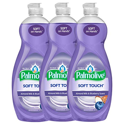 Palmolive Ultra Soft Touch Almond Milk & Blueberry, Dish Soap, 591 ml / 20 Fl.Oz - 3 Packs