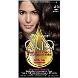 Garnier Olia Ammonia Free Permanent Hair Color, 100 Percent Gray Coverage (Packaging May Vary), 4.0 Dark Brown Hair Dye, 1 Kit