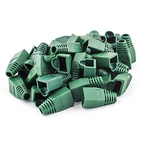 Soft Plastic Ethernet RJ45 Cable Connector Boots Cover Strain Relief Boots CAT5 CAT5E CAT6 CAT6E 100PCS By Copapa (Gree) - 45 Cat5e Green Patch Cable
