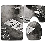 Bathroom Rug Mats Set 3 Piece Poker Perfect Combination Of Luxury And Comfort