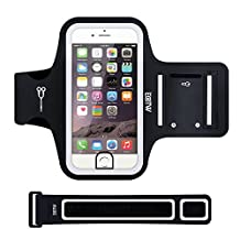 EOTW iPhone 7 Armband Support Fingerprint Identification,Sweatproof Sports Armband Case Holder Also for iPhone 6s,6,5 5S 5C 4S,Moto G X,HTC One M7,Huawei P6 Ascend Y530,Samsung Galaxy S5 mini and Any Similar 4.7 inch Smartphones