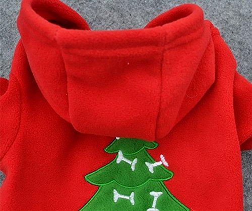 LAAT Chaleco con Capucha de Perro Chaleco de Invierno para Mascotas Ropa de Navidad para el patrón de árbol de Navidad de Perro Patrón de árbol de Navidad ...