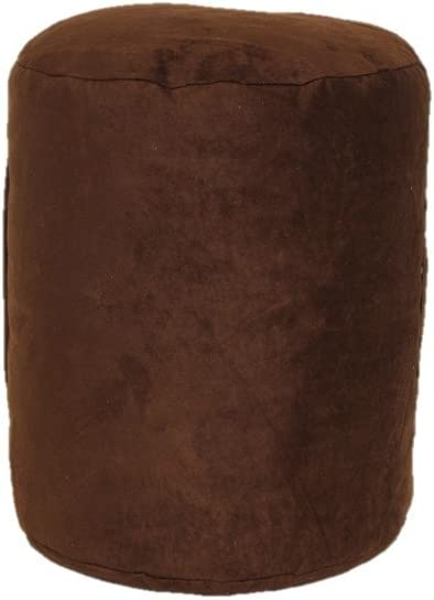 Brentwood Nouveau Pouf, Tall, Coffee Bean