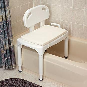 """Foam/Mesh Bath Cushions. 25"""" x 16"""" Shower Chair Cushion"""