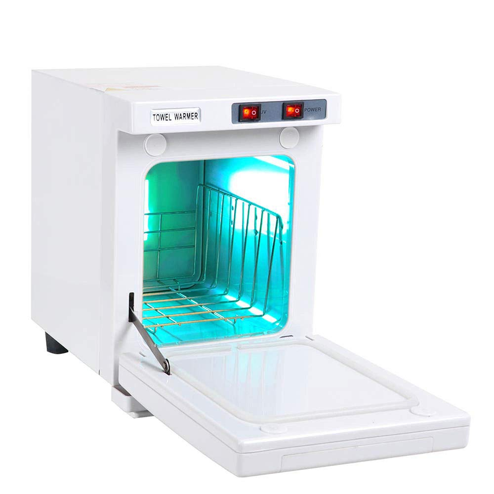 ReaseJoy 2in1 Hot Towel Warmer Cabinet 5L UV Sterilizer Beauty Salon Equipment Hair Scissor Spa Health Home