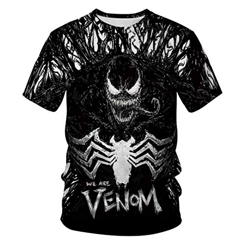 Tsyllyp Women Men Casual T Shirt Venom Tops 3D Print Short Sleeve Tee Shirts