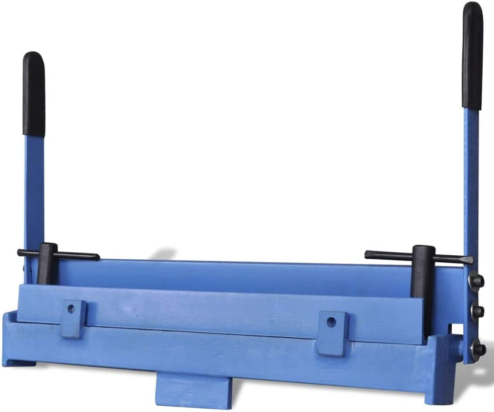 vidaXL Máquina Plegadora Manual de Metal 450 mm Herramienta Dobladora de Chapa