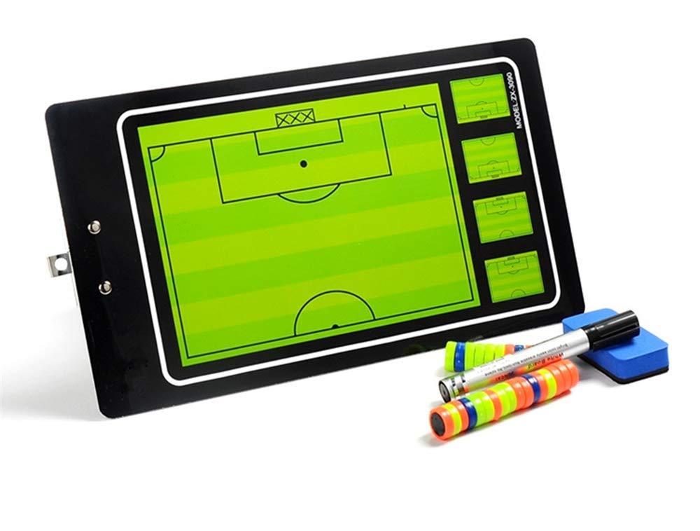 FantasyDay フットボール/サッカー 磁気コーチボード マグネットピースとホワイトボードマーカー レザー磁気タクティカルボード 折りたたみ式戦略コーチングクリップボード B07H68RG4H #6
