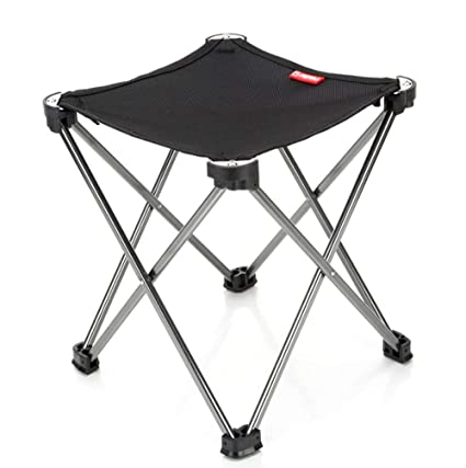 Amazon.com: Portable Folding Camping Stool Lightweight Frame Stool ...