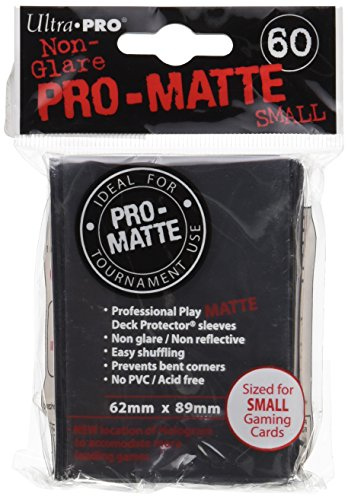 Free Ultra Pro PRO-MATTE SMALL Black Deck Protector Sleeves - YuGiOH
