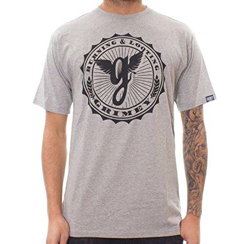 Grimey Camiseta Classic Logo SS14 Grey Melange 3XL