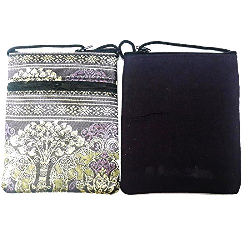 Crossbody Tribe Hippy Hmong Bag Hill EB2 Thai Violet Elephant 5awUq5A