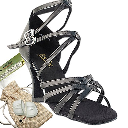 Women's Ballroom Dance Shoes Tango Wedding Salsa Dance Shoes Black Leather 5008EB Comfortable - Very Fine 3