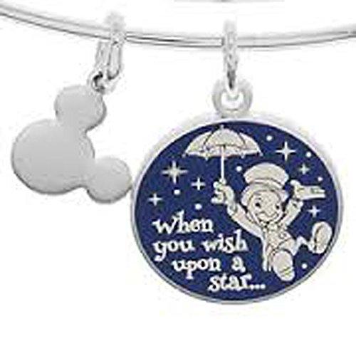 Disney Parks Alex and Ani Jiminy Cricket When You Wish Upon a Star Silver Bracelet Charm
