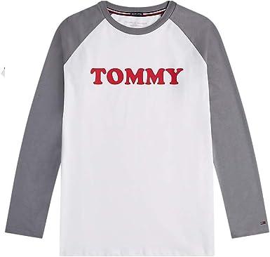 Tommy Hilfiger - Camiseta de manga larga para hombre: Amazon.es: Ropa y accesorios