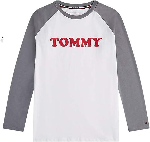TOMMY HILFIGER - Camiseta de Manga Larga para Hombre Raglan Quiet ...