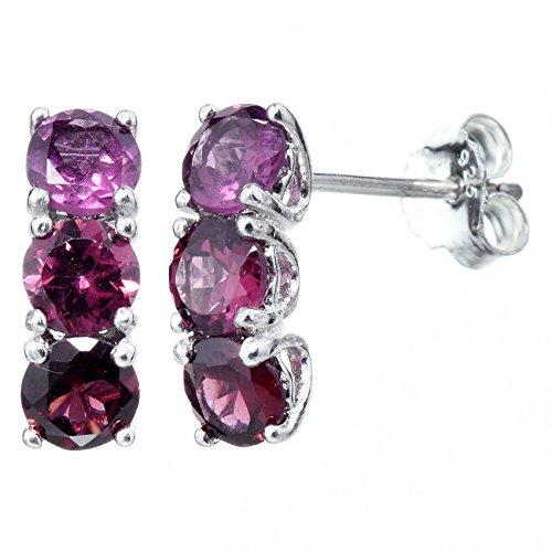 Cut Rhodolite Earrings ()