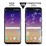 Galaxy S8 Glass Screen Protector SGIN, [2Pack Black]Highest Quality Premium Tempered Glass Anti-Scratch, Clear High Definition (HD) Screen Film for Galaxy S8(Full Screen Coverage)
