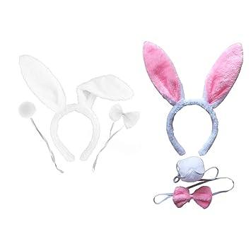 TOYANDONA 2 Juegos de Disfraz de Conejo con Orejas de Conejo ...