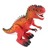 WonderPlay Electronic Toys Walking Tyrannosaurus Rex Dinosaur with Sound & Light , Batteries Operated , Color Red