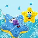 NEW みずふきヒトデ お風呂のおもちゃ 水遊び おもちゃ 8ヶ月から ベビー 赤ちゃん 知育玩具 噴水 お風呂で遊べる