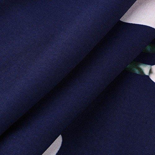 Vestito Senza Maxi Lungo Dalla Stampa Coohole Donne Spiaggia Estate Floreale Blu Maniche Delle V collo Sundrss Boho t7w7xq