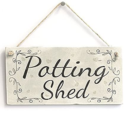 Decorative Signs With Sayings Potting Shed French Country Decor Gardening  Gift Wooden Wall Sign Welcome Sign