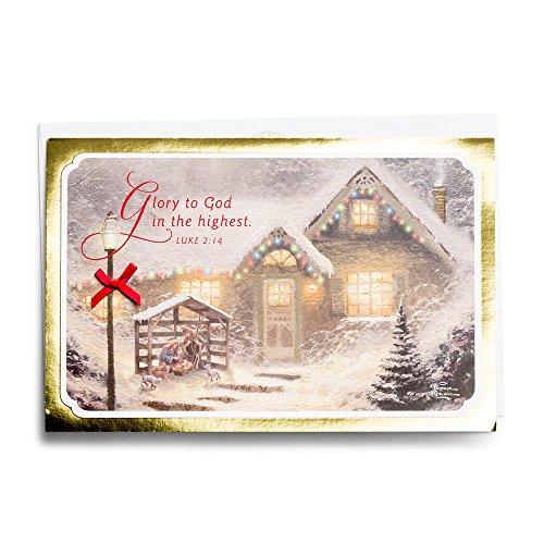 Christmas Boxed Cards - Thomas Kinkade - Manger Scene (Thomas Kinkade Christmas Cards)
