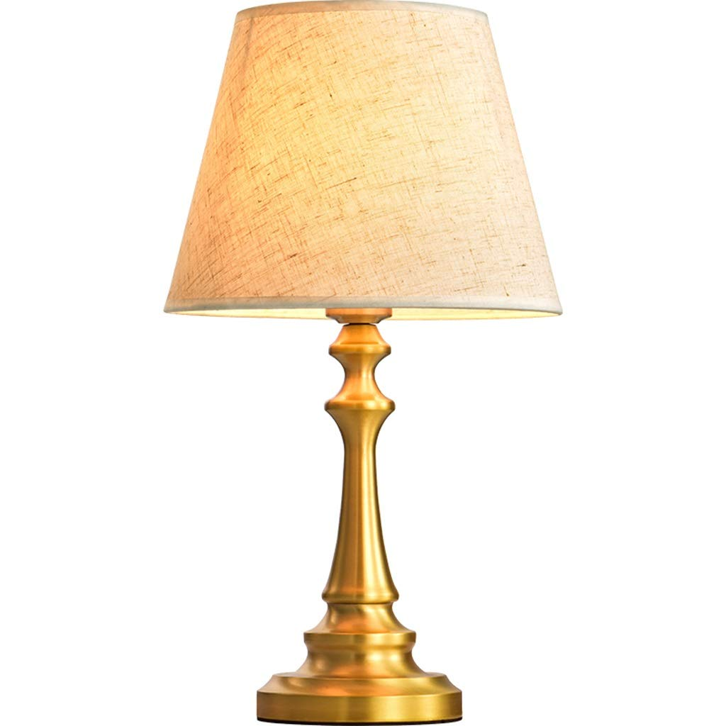 Gold Copper Table Lamp Bedroom Bedside Lamp Creative Romantic Desk Small Table Lamp Home Simple Study Room Copper Lamps Copper Body