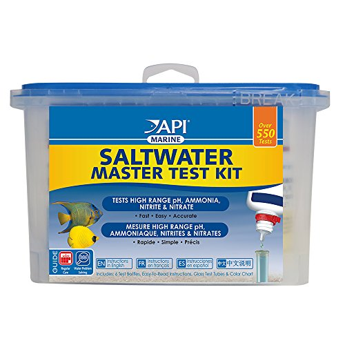 API SALTWATER MASTER TEST KIT 550-Test Saltwater Aquarium Water Test Kit from API