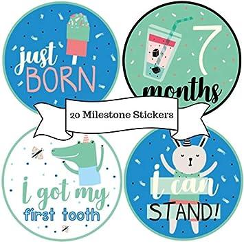 Amazon.com: BebeTales Pegatinas Mensuales para Bebé - Set de ...