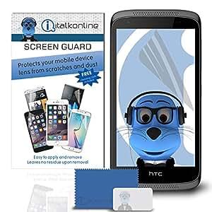 iTALKonline HTC Deseo 526Protector Protector de pantalla LCD con gamuza de microfibra y tarjeta de aplicación