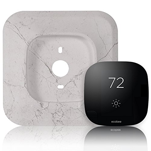 2 Lite Wall (6.625in Wall Plate Bracket Cover for Ecobee3 Smart Wi-Fi Thermostat EB-STATE3-02 (Marble Pattern by HOLACA (Jazz White)))