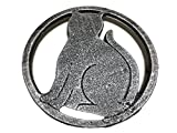 Cat Metal Trivet with Feet for