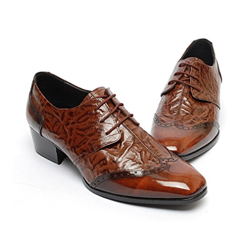 Epicstep Mens Genuino Scarpe In Pelle Vestito Elegante Formale Affari Casual Oxford Mocassini Marrone Wingtip