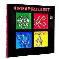 50% off Metal Brain Teaser Puzzle Game, Fun Mind Games for Kids and Adults, Excellent IQ Puzzle