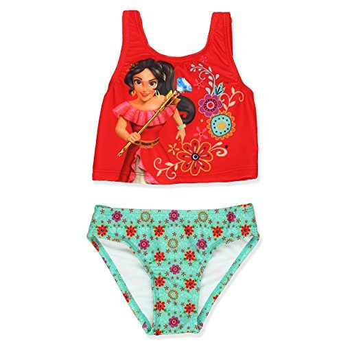 Elena Of Avalor Girls Swimwear Swimsuit (3T, Red)