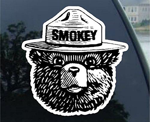 """Smokey Bear Bumper Sticker Forest Fire Fighter Car Decal 4"""" X 5"""""""