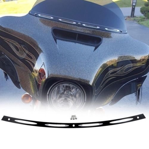 ECLEAR Windshield Trim Deep Cut Beveled Windscreen for 1996-2013 Harley Touring FLHT FLHX