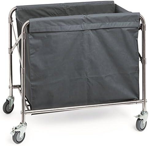 W/äschewagen aus Edelstahl 85 x 45 x 85 cm W/äschesack aus Polyester