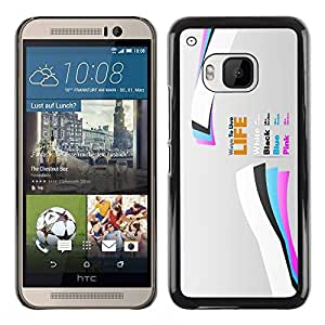 Paccase / SLIM PC / Aliminium Casa Carcasa Funda Case Cover para - Life - HTC One M9