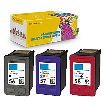 New York TonerTM New Compatible HP 56 HP 57 HP 58 Black & Color Ink Cartridges.
