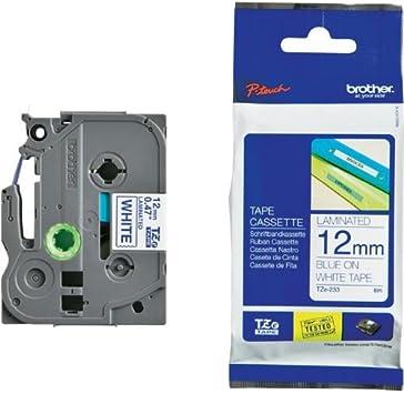 3 Schriftband für Brother Blau auf Weiß TZe-233 TZe233 12mm PT-2470 2430PC 2410