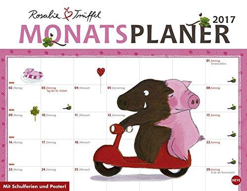 Rosalie und Trüffel Monatsplaner - Kalender 2017